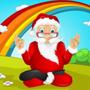 Cartoon Character Santa Claus. Vector EPS 10.