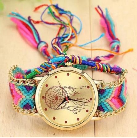 Montre Attrape Rêve Bracelet Brésilien.