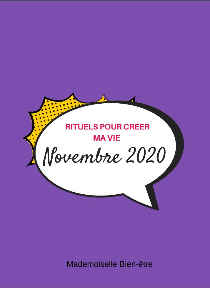 Agenda rituels novembre 2020