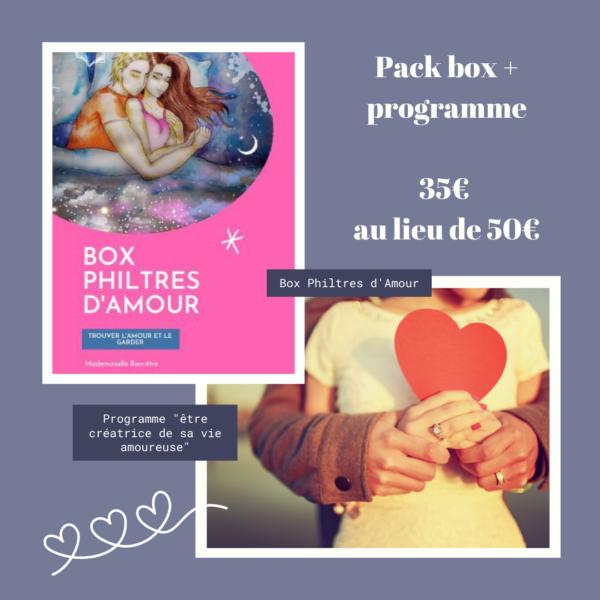 pack box + programme