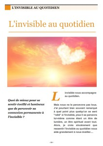 l'invisible au quotidien